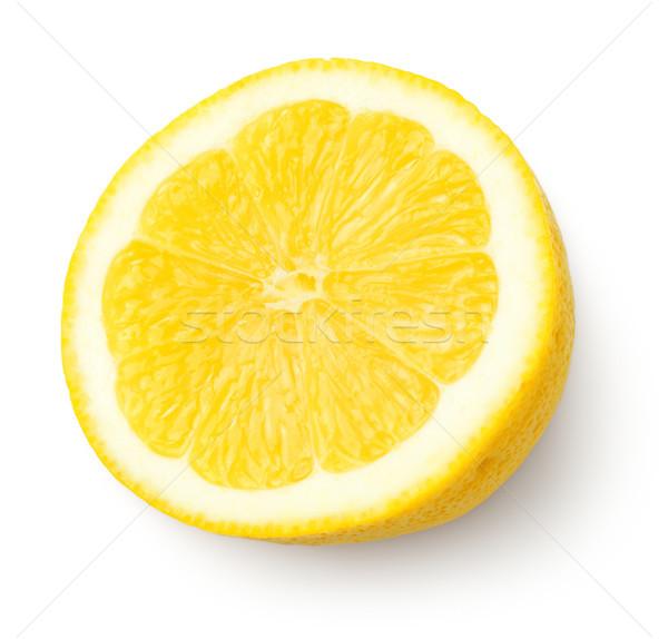 Half of Lemon Isolated on White Background Stock photo © Bozena_Fulawka