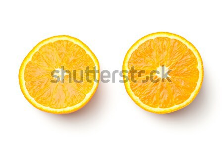 Oranje geïsoleerd witte top achtergrond Stockfoto © Bozena_Fulawka