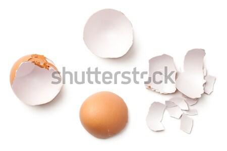 Egg Shell Isolated on White Background Stock photo © Bozena_Fulawka