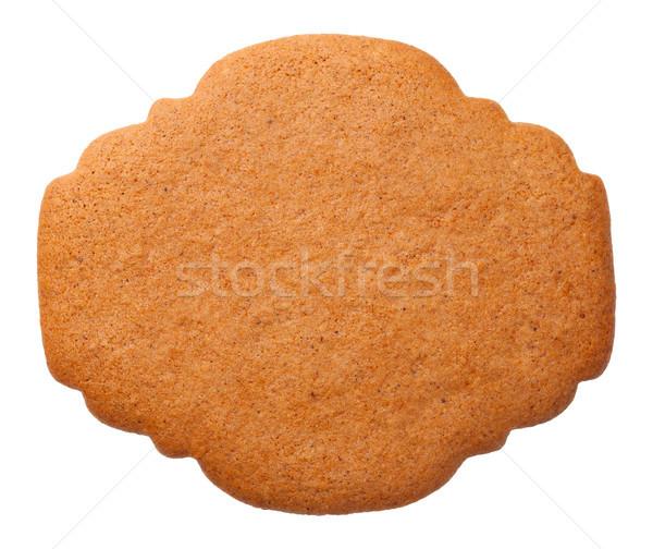 Zencefilli çörek etiket kurabiye yalıtılmış beyaz biçim Stok fotoğraf © Bozena_Fulawka