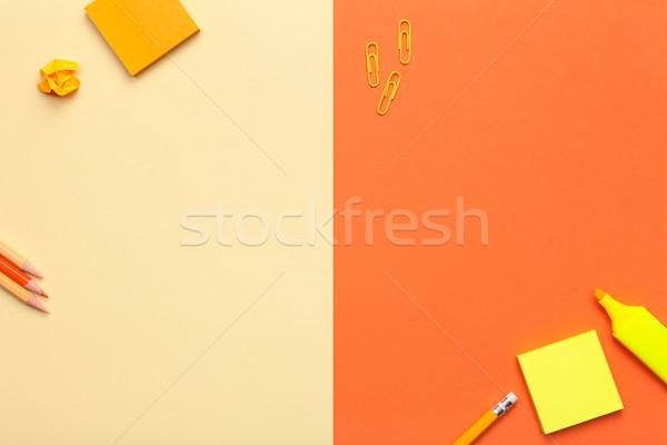 Ofis sarı turuncu en az stil Stok fotoğraf © Bozena_Fulawka