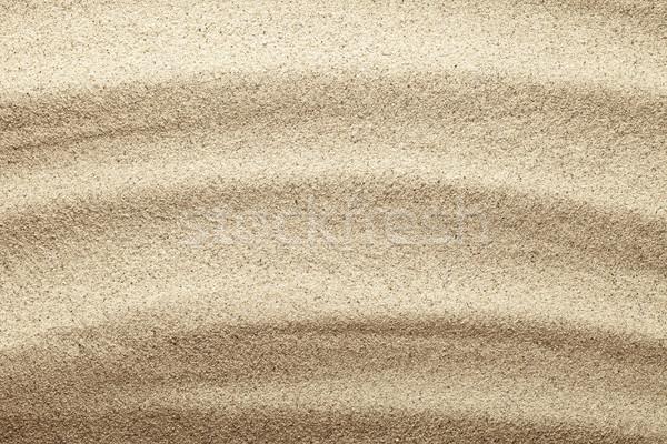 Homok homokos tengerpart textúra felső kilátás természet Stock fotó © Bozena_Fulawka
