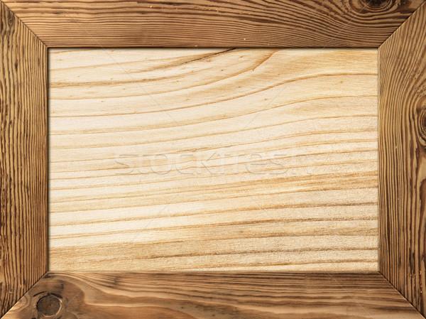 Hout frame natuurlijke houten plank binnenkant Stockfoto © Bozena_Fulawka