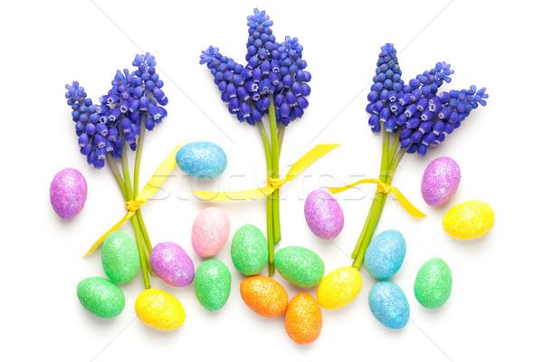 Easter Composition on White Background Stock photo © Bozena_Fulawka