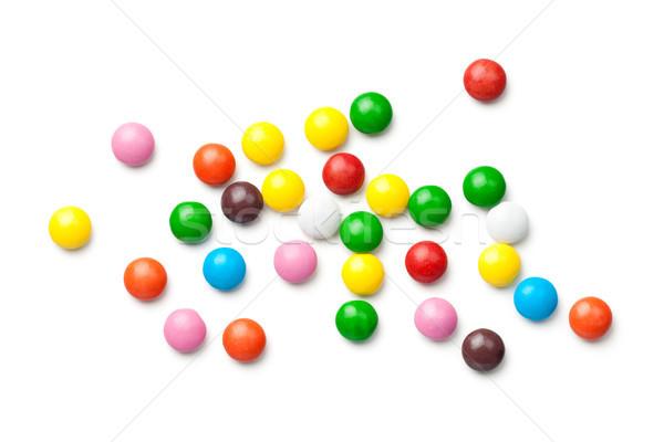 Kleurrijk chocolade snoep pillen geïsoleerd witte Stockfoto © Bozena_Fulawka