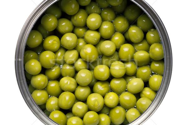 Stockfoto: Groene · erwten · geïsoleerd · witte · top