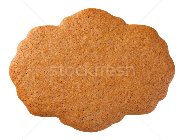 Peperkoek label cookie geïsoleerd witte top Stockfoto © Bozena_Fulawka