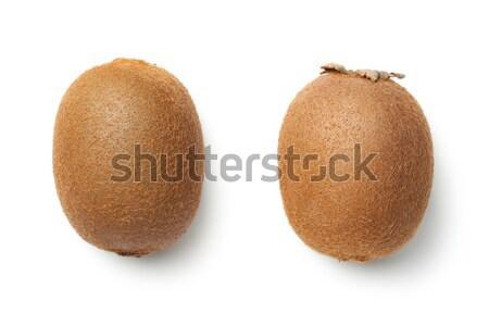 Kiwi fruto isolado branco topo ver Foto stock © Bozena_Fulawka