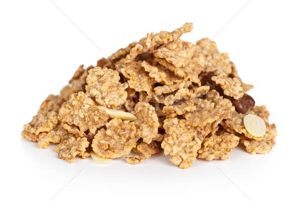 Cereali muesli bianco macro shot Foto d'archivio © Bozena_Fulawka