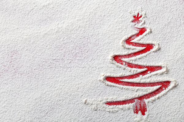 Christmas kerstboom meel witte zoals Stockfoto © Bozena_Fulawka