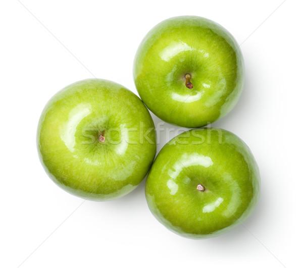 Nagyi almák fehér friss felső kilátás Stock fotó © Bozena_Fulawka