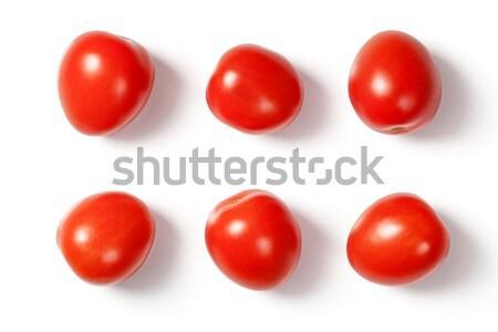 Vers pruim tomaten Rood witte natuurlijke Stockfoto © Bozena_Fulawka