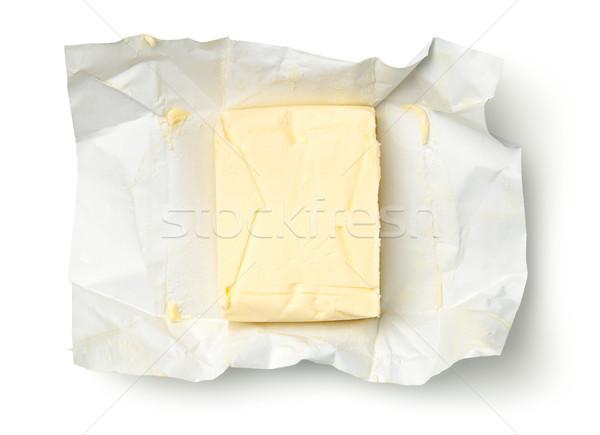 Butter Isolated on White Background Stock photo © Bozena_Fulawka