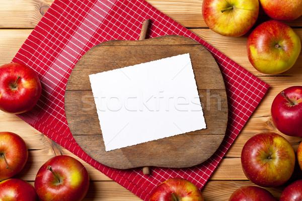 Taze elma ahşap masa meyve elma Stok fotoğraf © Bozena_Fulawka