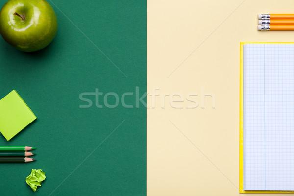 School groene Geel stijl Stockfoto © Bozena_Fulawka
