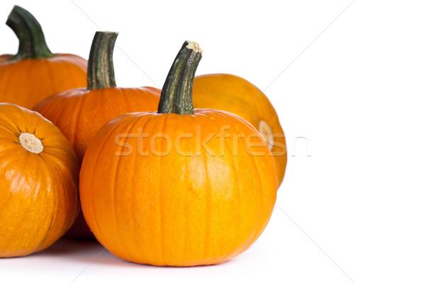 Pompoenen witte exemplaar ruimte najaar halloween voedsel Stockfoto © Bozena_Fulawka