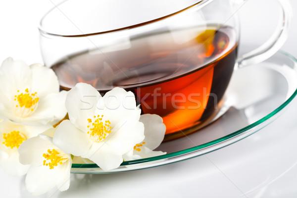 çay ot çiçek beyaz tıbbi arka plan Stok fotoğraf © Bozena_Fulawka