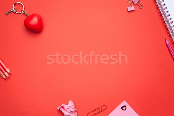 Valentijnsdag exemplaar ruimte top vrouw papier Stockfoto © Bozena_Fulawka
