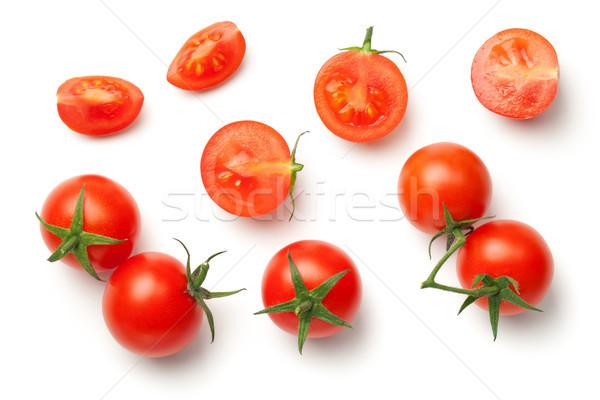 Cherry Tomatoes Isolated on White Background Stock photo © Bozena_Fulawka