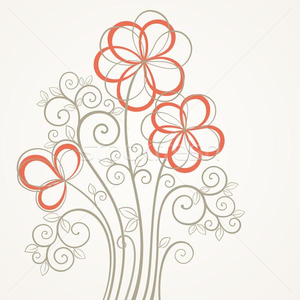 抽象的な 花 カード ヴィンテージ 広場 愛 ストックフォト © brahmapootra