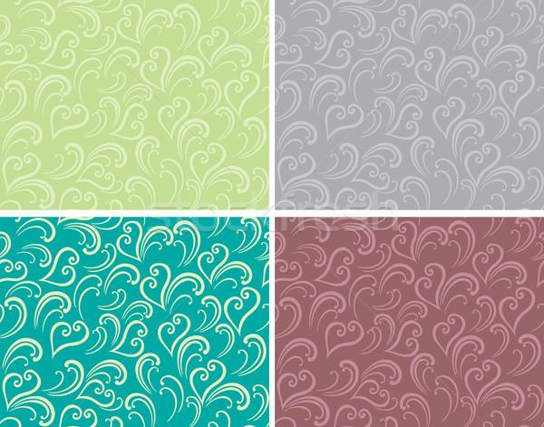 Fürtös végtelenített dekoratív grafikus tavasz végtelenített minták Stock fotó © brahmapootra