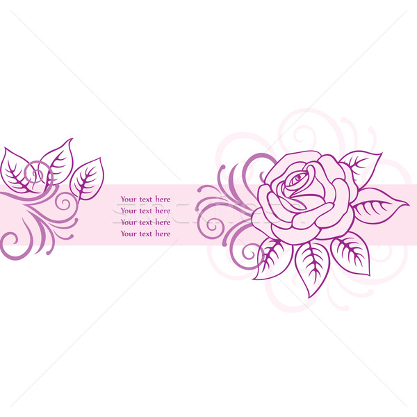 Floral card background Stock photo © brahmapootra