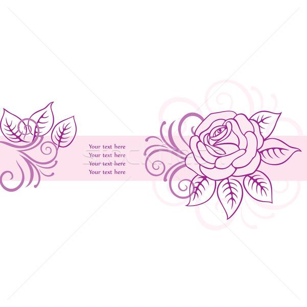 Kwiatowy karty dekoracyjny wektora wzrosła wiosną Zdjęcia stock © brahmapootra
