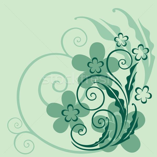 装飾的な フローラル エレガントな 草 花 背景 ストックフォト © brahmapootra