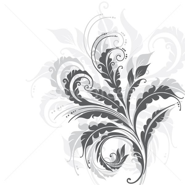 装飾的な フローラル エレガントな 植物 葉 葉 ストックフォト © brahmapootra