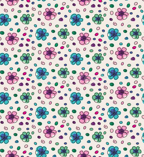 面白い カラフル 花 ベクトル 抽象的な ストックフォト © brahmapootra