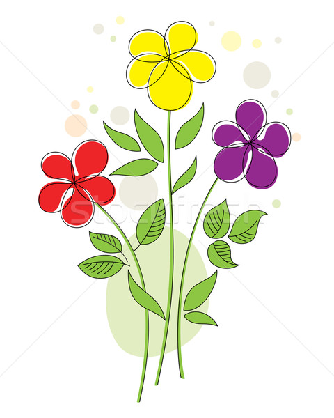 カラフル 抽象的な 花 3  面白い デザイン ストックフォト © brahmapootra
