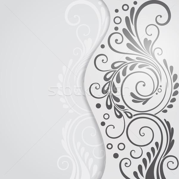 抽象的な フローラル デザイン グレー 花 ストックフォト © brahmapootra