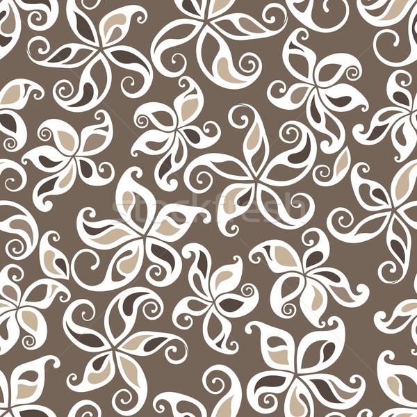 Kitűnő végtelenített virágmintás dekoratív grafikus szín Stock fotó © brahmapootra