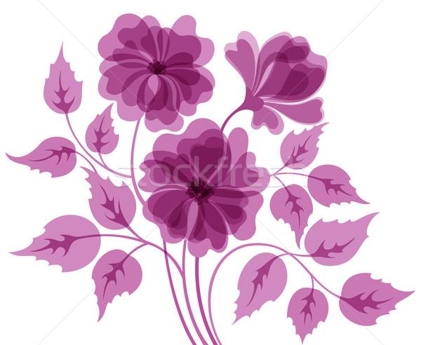 Színes virág absztrakt eps10 lila levél Stock fotó © brahmapootra