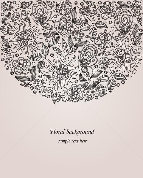Dekoratív virág illusztráció vektor virágmintás rajz Stock fotó © brahmapootra