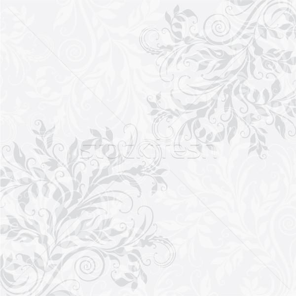 Eps10 décoratif floral élégante illustration gris Photo stock © brahmapootra