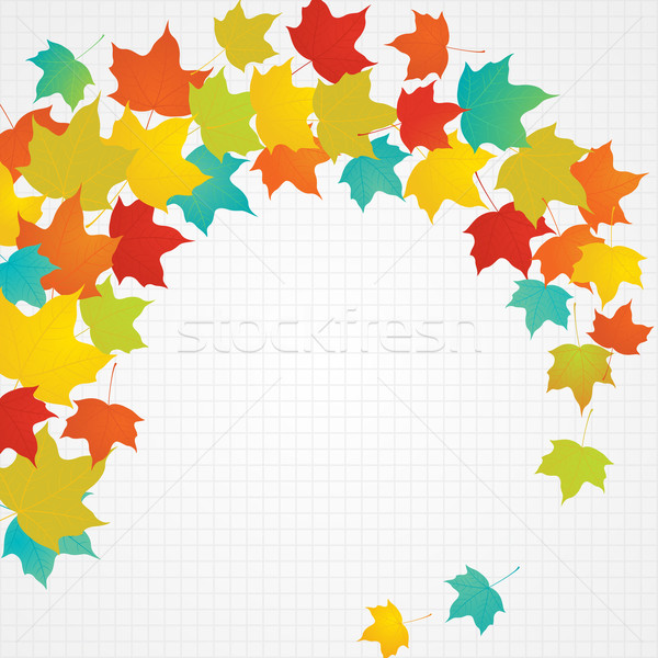 ősz repülés levelek copy space eps8 vektor Stock fotó © brahmapootra