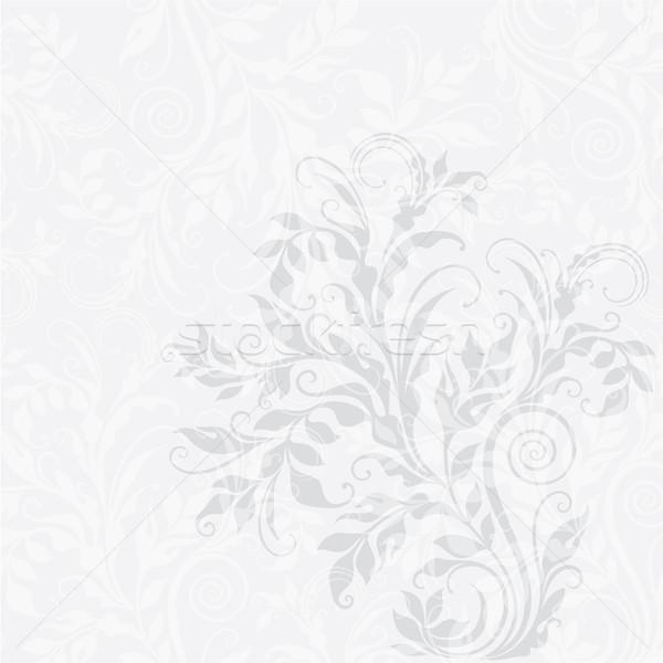 Eps10 dekoratív virágmintás elegáns illusztráció szürke Stock fotó © brahmapootra