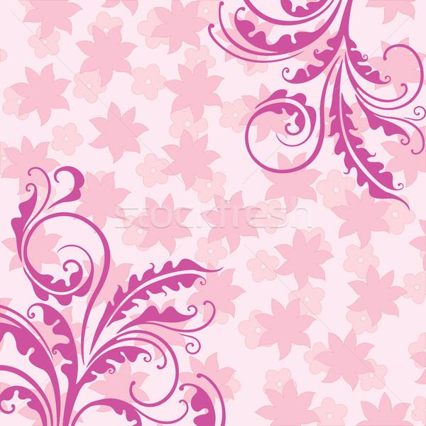 Dekoratív rózsaszín virágmintás elegáns fű virágok Stock fotó © brahmapootra