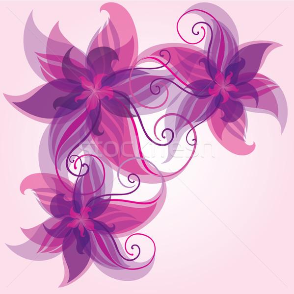 カラフル 花 抽象的な eps10 紫色 光 ストックフォト © brahmapootra
