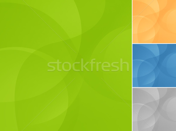 EPS10 wave background in 4 variants Stock photo © brahmapootra