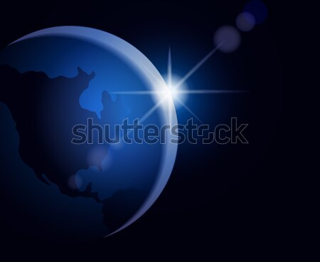 Rising sun over the Earth Stock photo © brahmapootra
