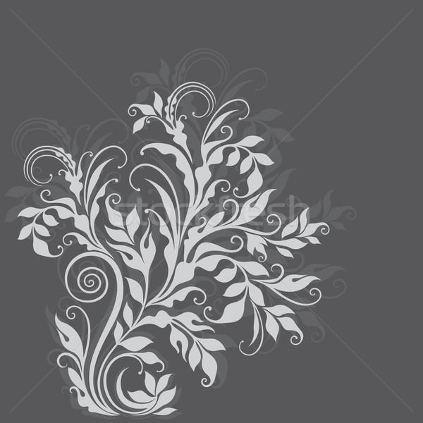 Elegáns dekoratív virágmintás illusztráció szürke szépség Stock fotó © brahmapootra