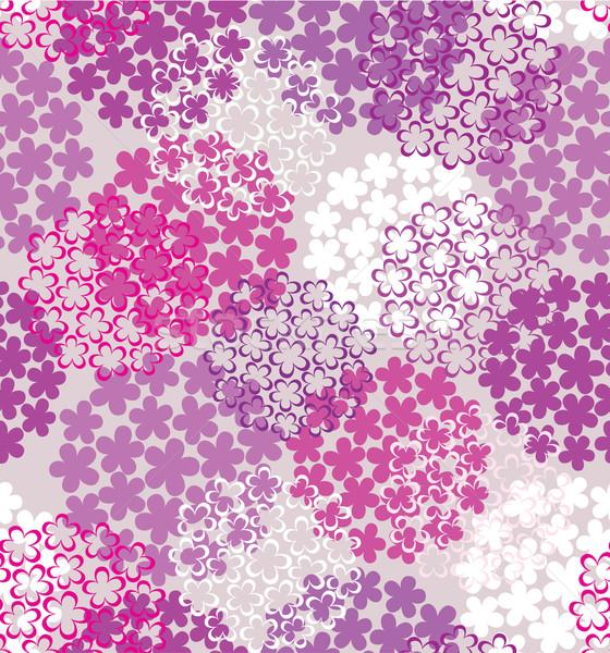 装飾的な シームレス 花 カラフル 紫色 抽象的な ストックフォト © brahmapootra