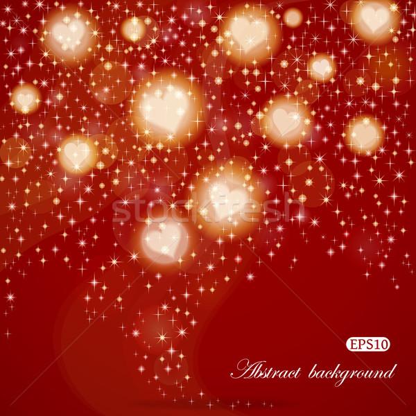 Resumen día de san valentín brillante eps10 vector corazones Foto stock © brahmapootra