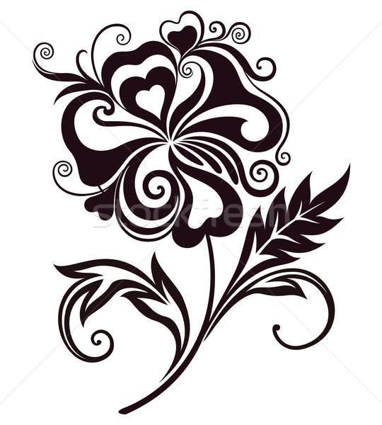 Absztrakt virág alkotóelem terv természet levél Stock fotó © brahmapootra