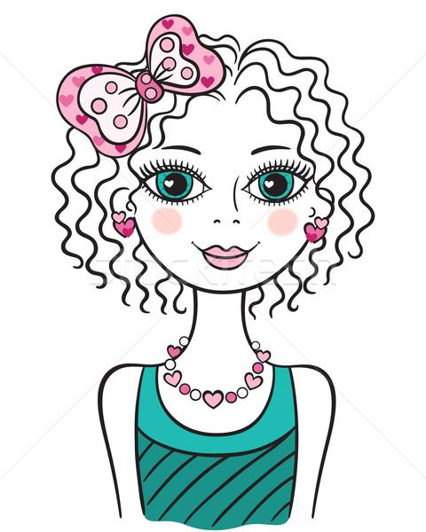 かわいい 面白い 十代の少女 実例 小さな ストックフォト © brahmapootra