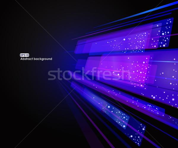 Stockfoto: Abstract · eps10 · vector · Blauw · glas