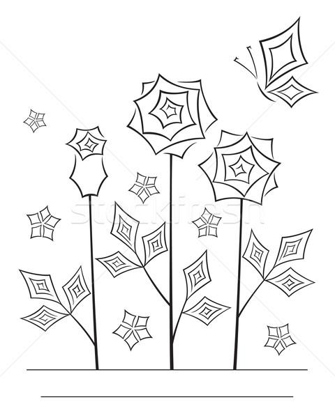 芸術的 花 行 芸術 カード オリエンタル ストックフォト © brahmapootra
