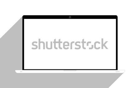 Laptop isolado branco internet monitor teia Foto stock © Bratovanov